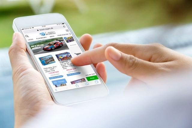 Swipe & Buy på webshoppen Legen.dk