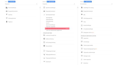 Henvisningsekskluderinger i Google Analytics
