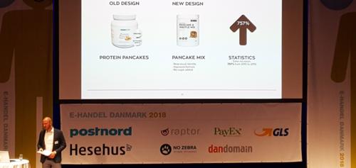 Bodylabs pandekagemix - nyt design - før og efter