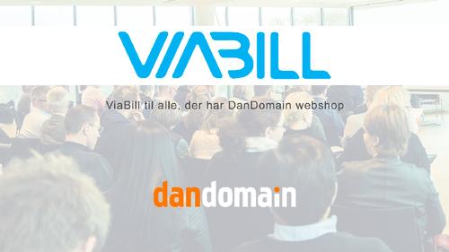 ViaBill tilbud til alle DanDomain Webshops